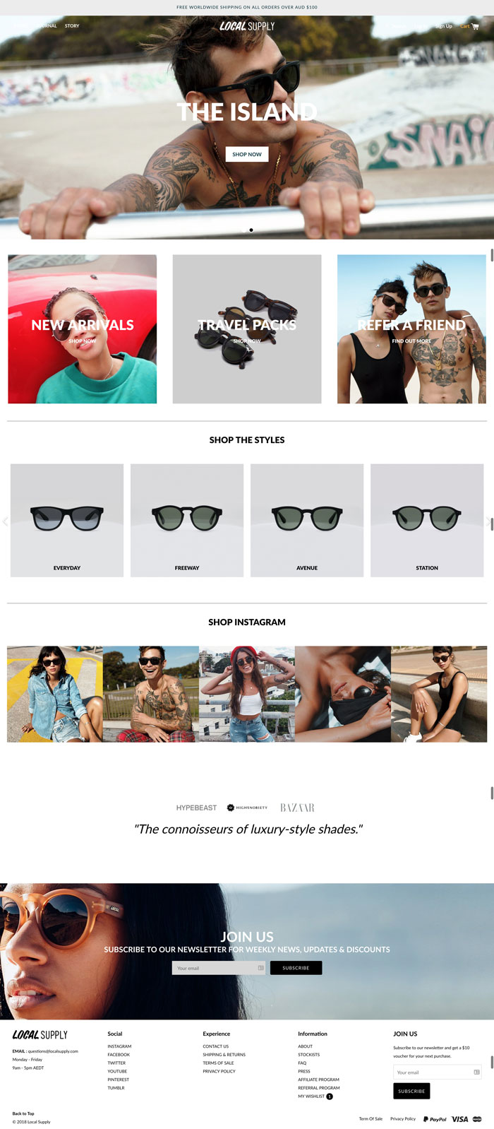 Local Supply polarized sunglasses